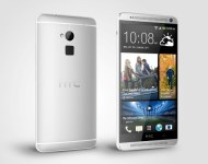 HTC One max Glacial Silver Perspective Left