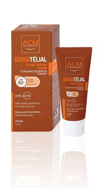 ACM SENSITELIAL CREMA GOLDEN TINT SPF50+ 40ML