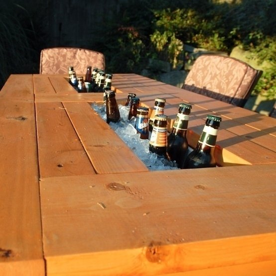 beer cooler to your patio table
