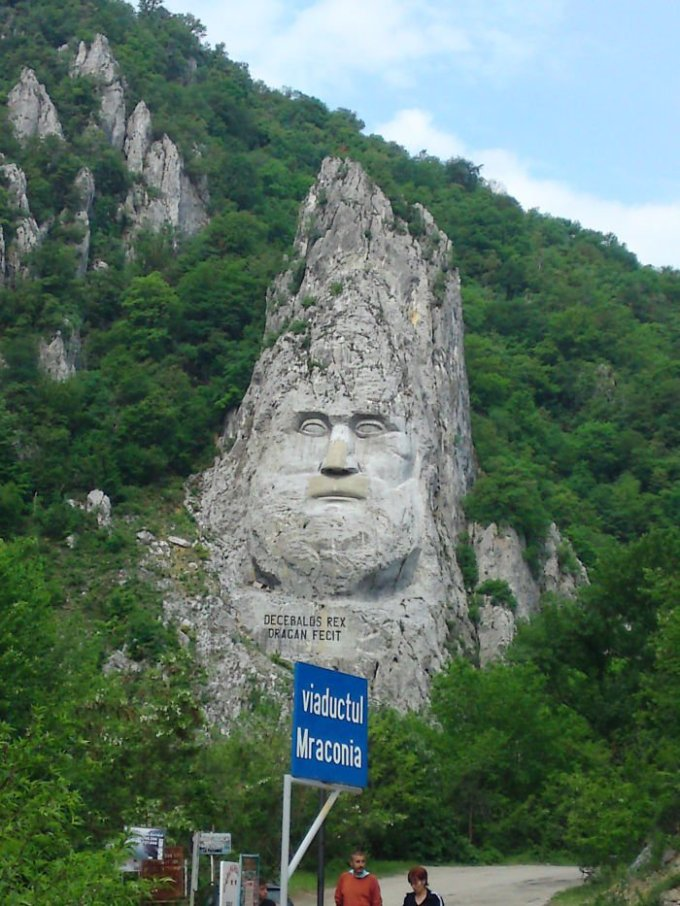 King Decebalus, Orșova City, Romania (tallest Rock Sculpture In Europe - 40m)