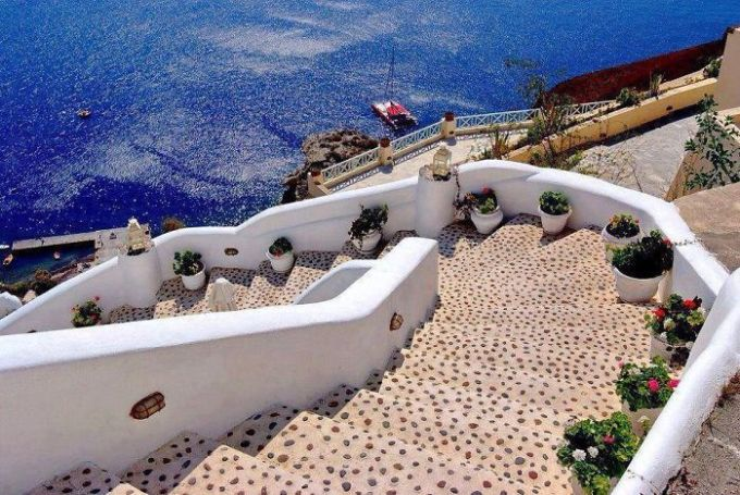Steps In Santorini, Greece