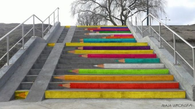 Stairs in Poznan, Poland