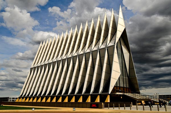 Cadet Chapel (Air Force Academy, Colorado, USA)