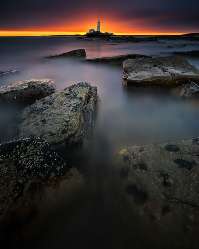 St Mary's Lighthouse, Bait Island, UK