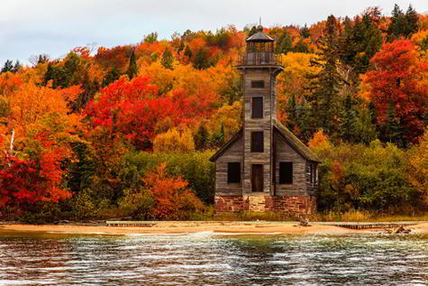 Grand Island East Channel Light House, Michigan