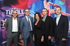 MIPCOM, Paul Dempsey - BBC President of Global markets, Grant Welland - BBC Official EVP for CEMA, Nadia Comaneci, Aleksandras Cesnavicius - CEO PRO TV si Wolfgang Hofer - Programming Director PRO TV