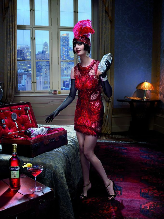 06 Campari Calendar 2015_Mythology Mixology_Eva Green_June_Boulevardier_LR