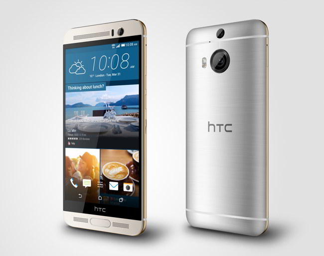HTC One M9+ Gold on Silver_3