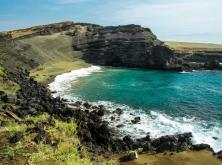 Papakōlea Beach, Big Island, Hawaii (este supranumită Green Sand Beach)