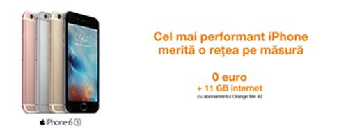 iPhone 6s, gratis de la Orange