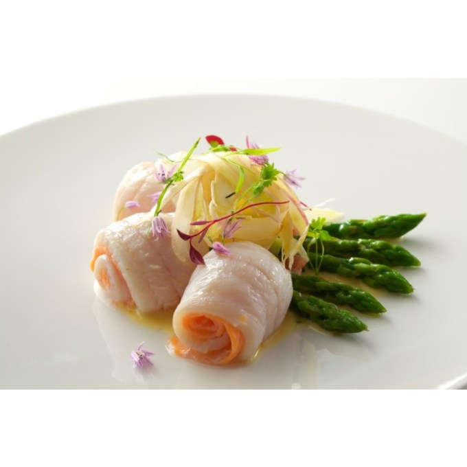 Steamed Lemon Sole, Smoked Salmon, Asparagus_2