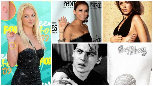 Beauty Trends: Ce vedete au renunţat la tatuajele din dragoste