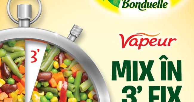 Legumele Bonduelle Vapeur s-au adunat în patru noi mixuri speciale