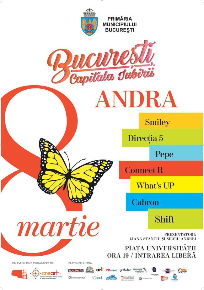 afis concert 8 martie_bucuresti.capitala iubirii