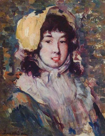"""Ștefan Luchian, """"Portret de fată"""" - lucrare din patrimoniul Muzeului Memorial Octavian Goga - Muzeu Ciucea Cluj"""