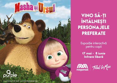 Masha și Ursul la Mega Mall! Trei săptămâni de distracție pentru copii …