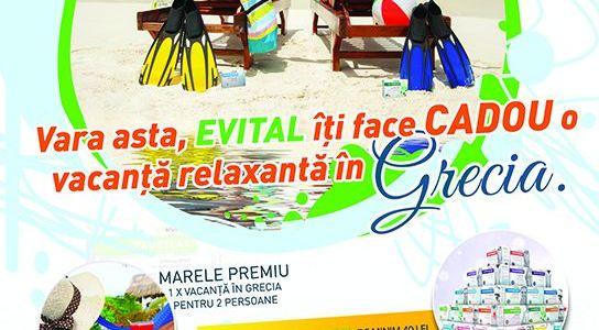 E vital să te #rEVITALizezi! Evital îți face cadou o vacanță în Grecia!