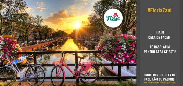 Floria sărbătorește 7 ani și peste 200.000 buchete și aranjamente florale livrate