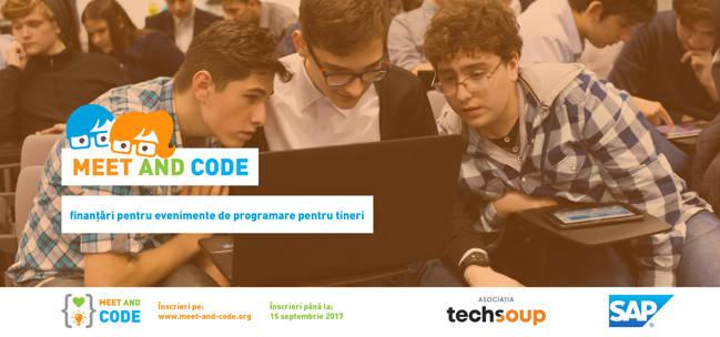 Meet and Code, finanțare  300 euro pentru organizarea unui eveniment de programare la Europe Code Week