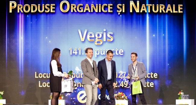 Vegis.ro, desemnat Magazinul Anuluiîn cadrul Galei Premiilor e-Commerce 2017