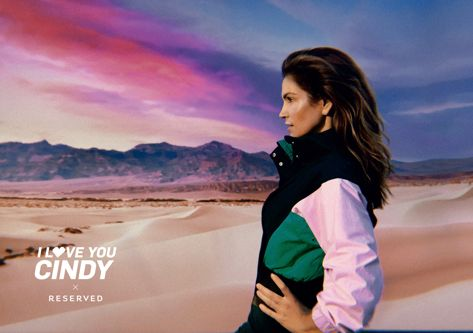 Cindy Crawford, noua imagine a colecției SS18 RESERVED