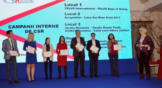 Romanian CSR Awards 2018 și-a desemnat câștigătorii