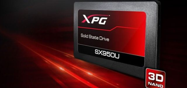 ADATA XPG lansează SSD-ul de gaming 3D NAND SX950U