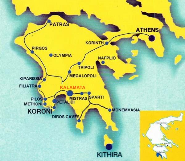 Kalamata-map