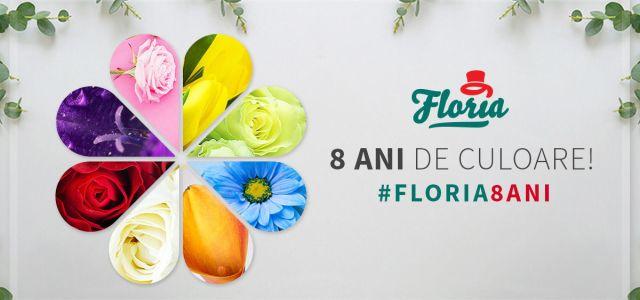 Floria, peste 130.000 de buchete livrate în 8 ani!