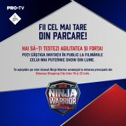 Ninja Warrior la Băneasa Shopping City!