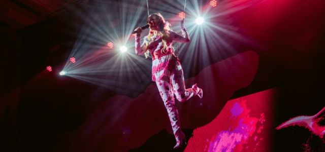 """Delia, show la o înălțime de 7 metri în prima seară a concertului """"Acadelia"""""""