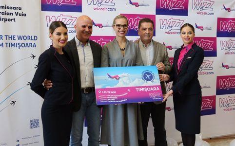 Wizz Air, patru noi rute din Timișoara!