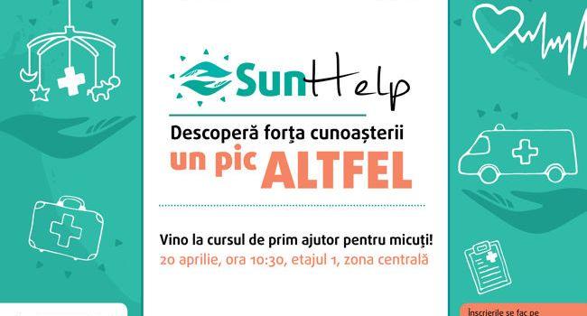 Curs gratuit de prim ajutor pentru micuți, la Sun Plaza