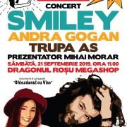 """Smiley și Andra Gogan concertează la Dragonul Roșu pentru """"Ghiozdanul cu Vise"""""""