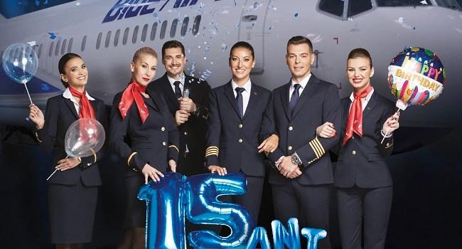 "15 ani de Blue Air marcați de programele ""Blue Benefits"" & ""Blue Boomerang"""