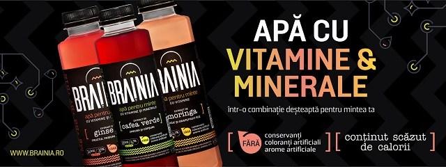 Smart Drink & Food aduce pe piaţa din România apă cu vitamine şi minerale BRAINIA