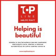 Top Line donează 1% din vânzările online campaniei de sprijinire a autorităților în lupta contra COVID-19