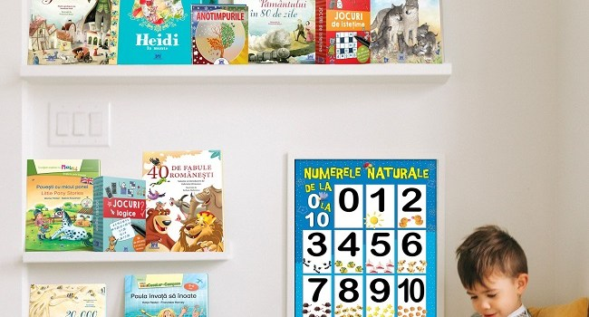 Top cărți care contribuiela dezvoltarea cognitivă și emoțională a copiilor