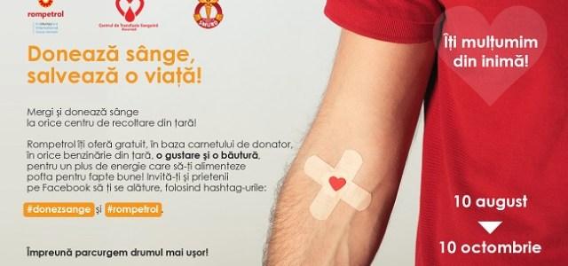 """""""Donează sânge, salvează o viață!"""" și Rompetrol te premiază"""