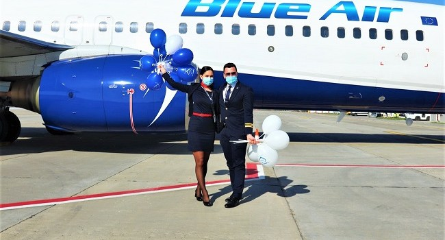 Blue Air anunță 7 noi rute operate din Bacău începând cu decembrie 2020