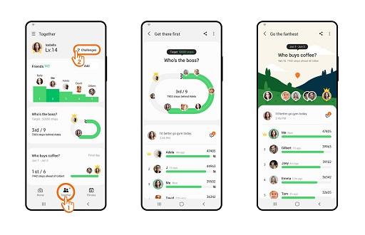 Obiectivele de fitness din noul an pot deveni realitate cu funcția Group Challenge din Samsung Health