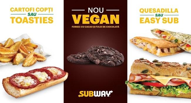 Subway mareste oferta de produse vegane si vegetariene la un sfert din totalul meniului sau