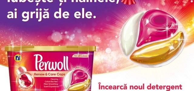 Noul detergent Perwoll Renew & Care Caps, pentru haine care arată ca noi mai mult timp