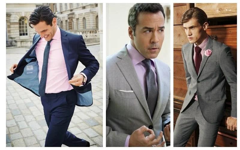 Pink Shirt Grey Suit