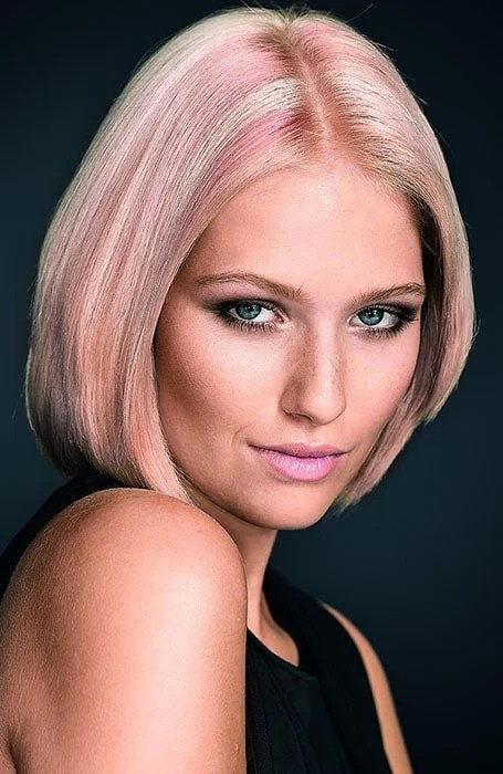 Blonde Hair with Pink and Rose Gold Highlights