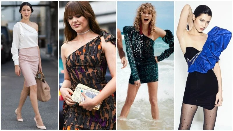 One Shoulder Dresses and Tops 80s Fashion Trend