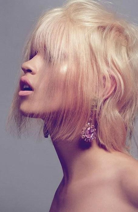 Platinum Rose Gold Hair Color