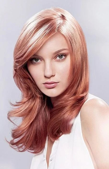 Rich Rose Gold Hair Color