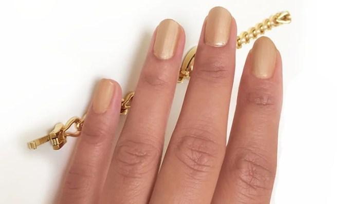 Matte Gold Nails