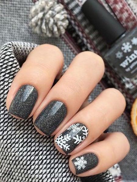 Dark Grey Winter Night